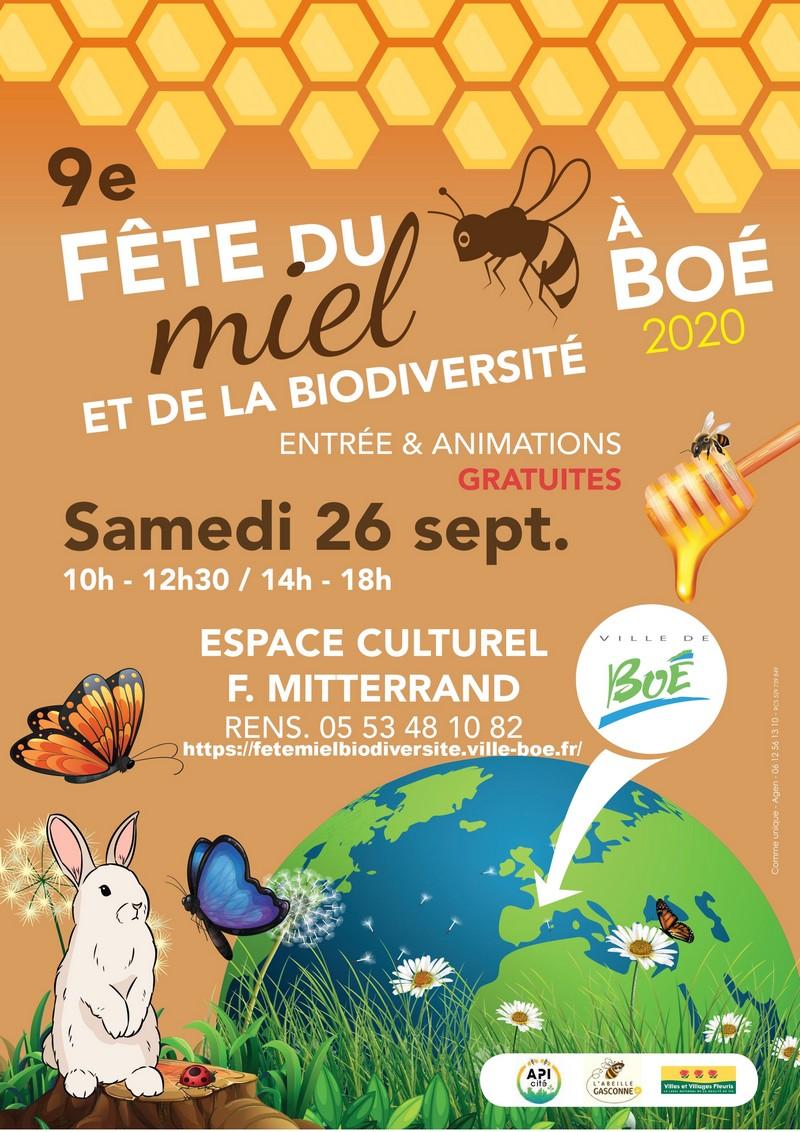 Affiche 9ème Fête du miel et de la biodiversité